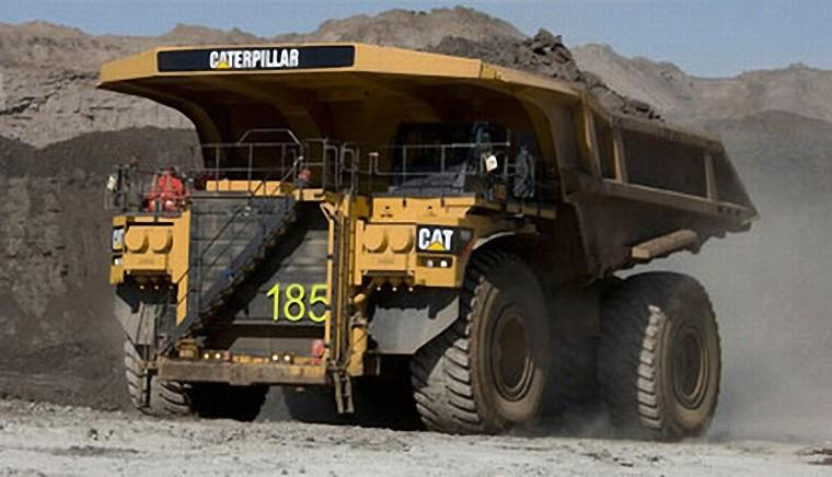 Front Left 2009 Caterpillar 797F Truck Picture