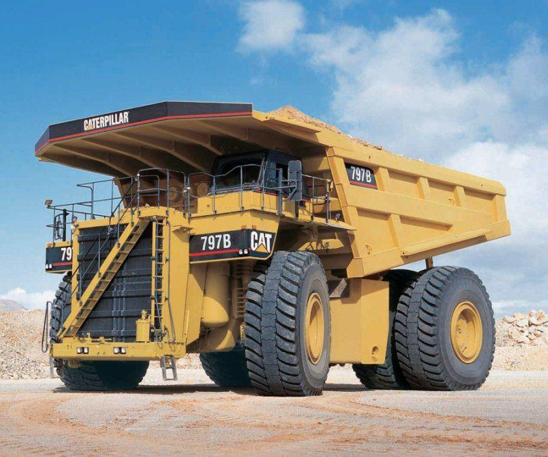 Front left Caterpillar 797B Mining Truck Picture