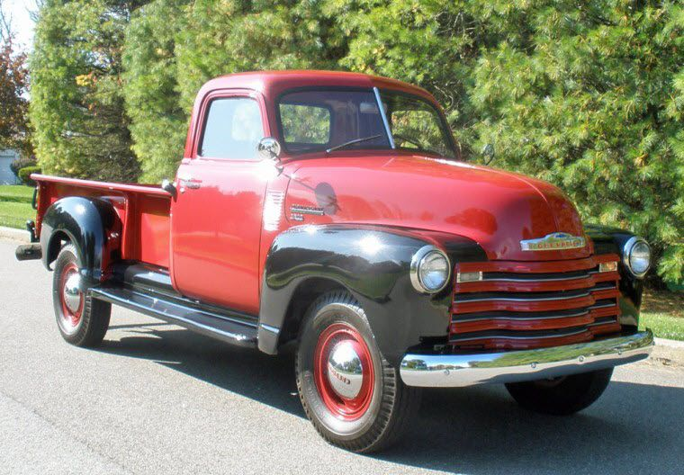 Front Right 1950 Chevrolet 3800 Pickup Truck Picture