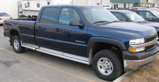 Front Right Blue 2002 Chevrolet 2500 Truck Picture