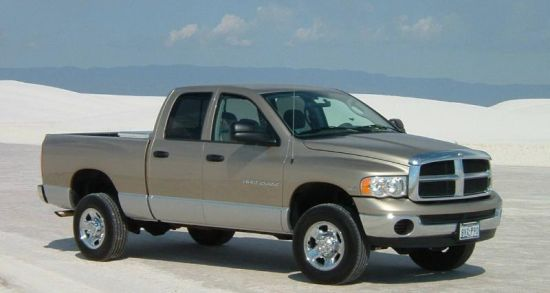Front Right Gray 2003 Dodge Ram Truck Picture