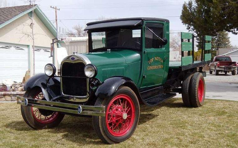 Front Left 1928 Ford Model AA Stake Truck Picture