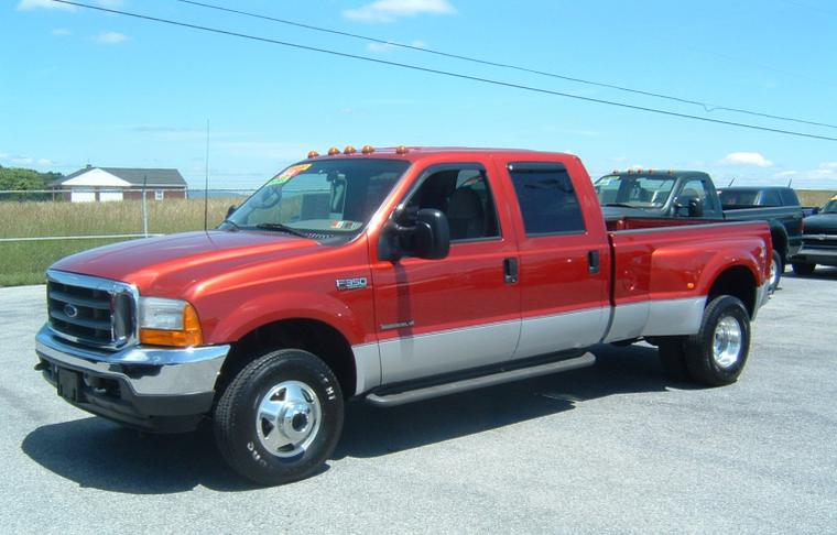 2001 Red Ford F350 Chip Dump Truck Picture | Ford Truck Pictures