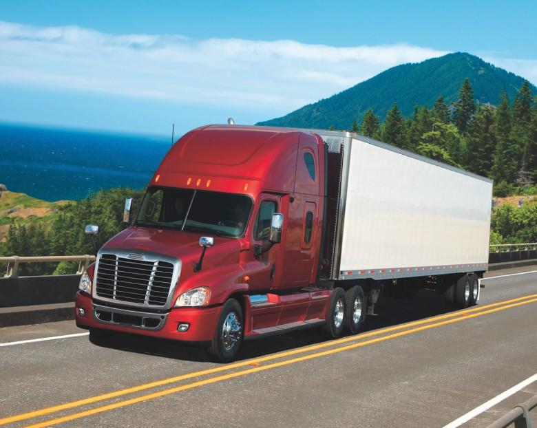 Front Left 2010 Freightliner Cascadia Truck Picture