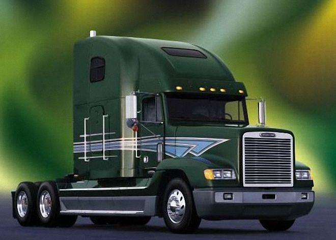Front Right Freightliner FLD 102 Truck Drawing