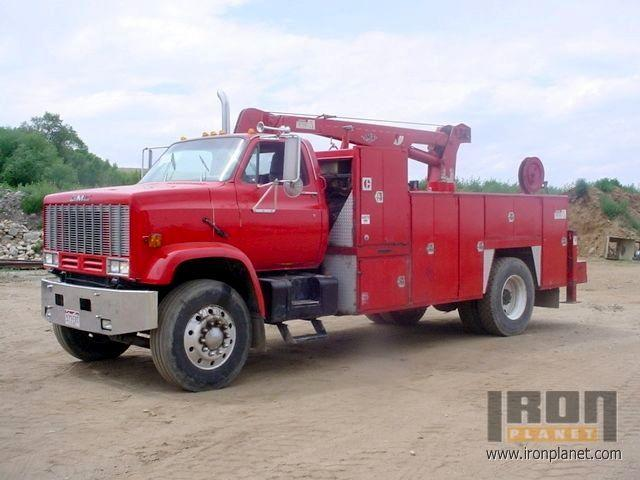 Front Left Red 1987 GMC Topkick Truck Picture