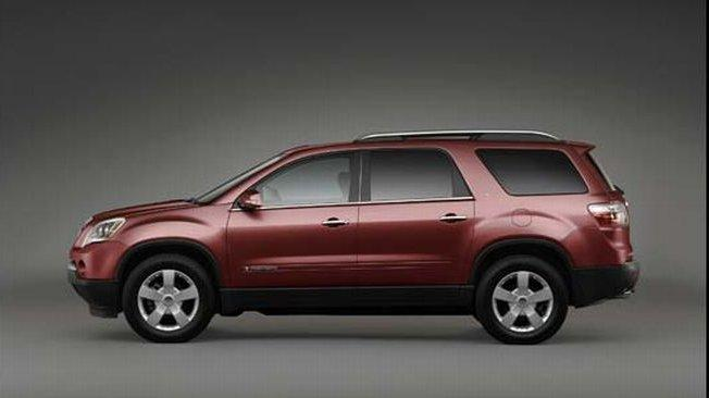 Left Side Maroon 2007 GMC Acadia Truck Picture