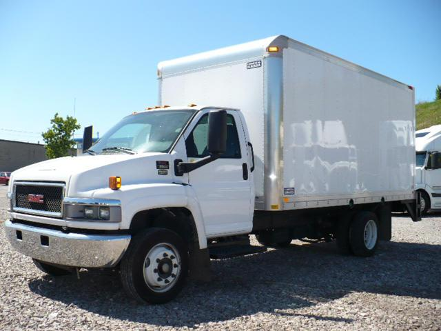 Front left white 2008 GMC 5500 Box Truck Picture