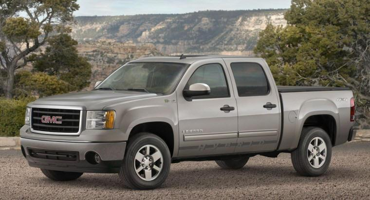 Front Left Silver 2009 GMC Sierra Hybrid SUV Picture