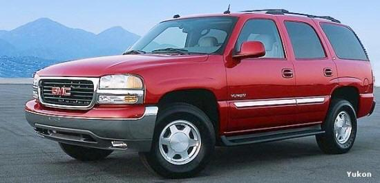 Front Left Red 2005 GMC Yukon Truck Picture