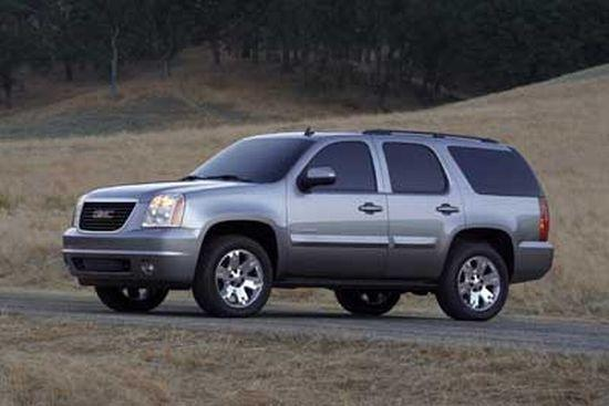 Front Left Gray 2007 GMC Yukon Truck Picture