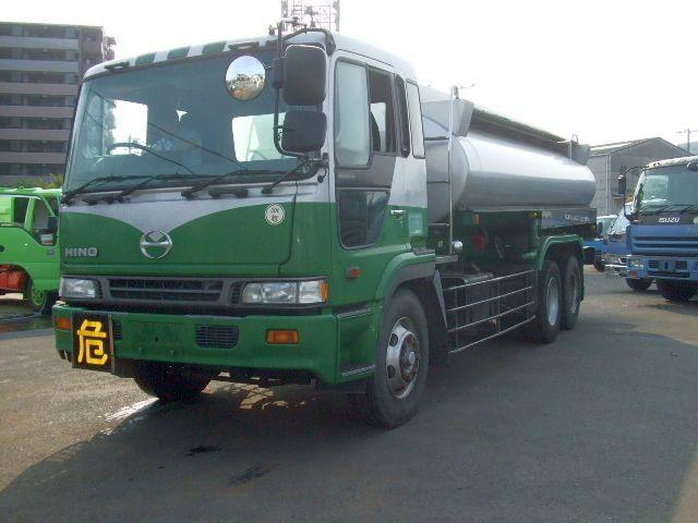 Front Left Green and White 1996 Hino Profia Truck Picture