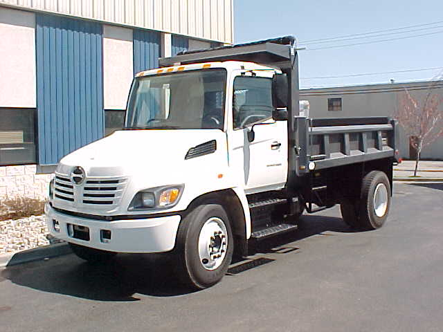 Front Left White 2006 Hino Dumper Truck Picture