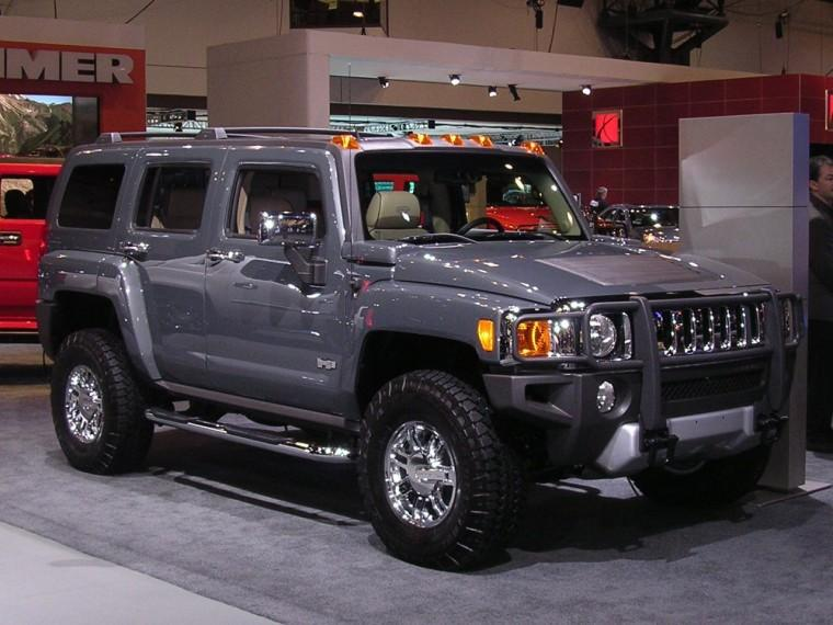 Front Right Gray 2008 Hummer H3 Alpha Truck Picture