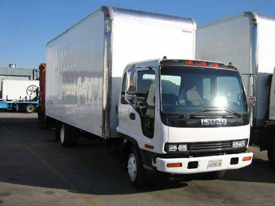 Front Right White 2001 Isuzu FRR Truck Picture