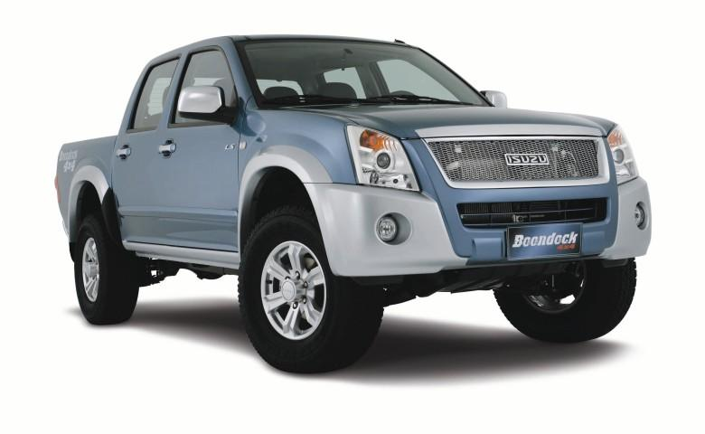 Front Right Blue 2009 Isuzu D-Max Boondock Truck Picture