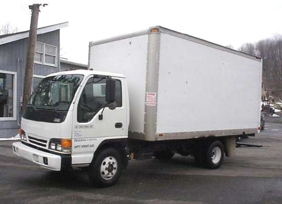 Front Left White 1999 Isuzu NPR Truck Picture