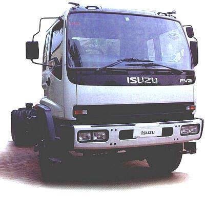 Front Right White 2002 Isuzu FVZ1400 Truck Picture
