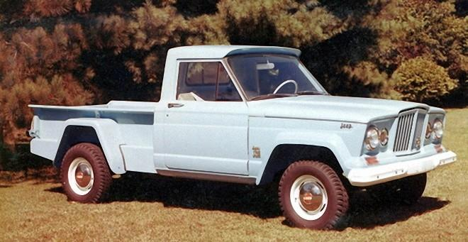 Front Right 1963 Jeep Gladiator J-200 Truck Picture