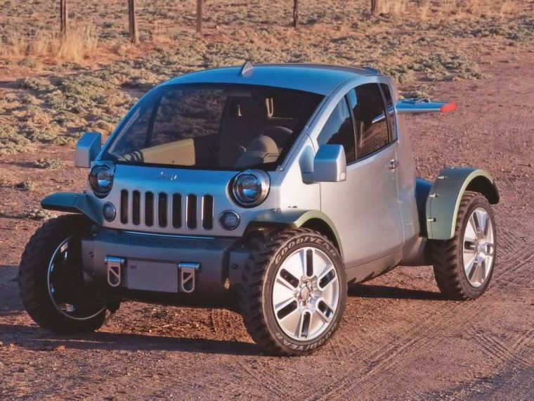 Front Left Gray 2003 Jeep Treo Concept Car Picture