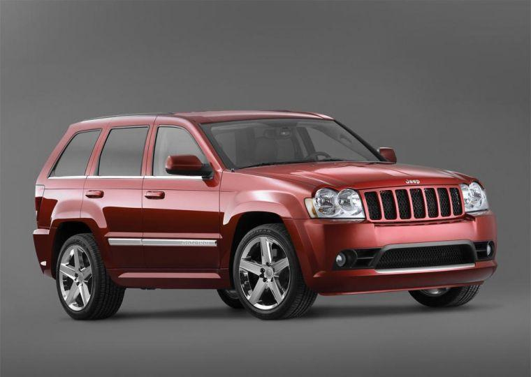 Front Right Maroon 2005 Jeep Grand Cherokee Truck Picture