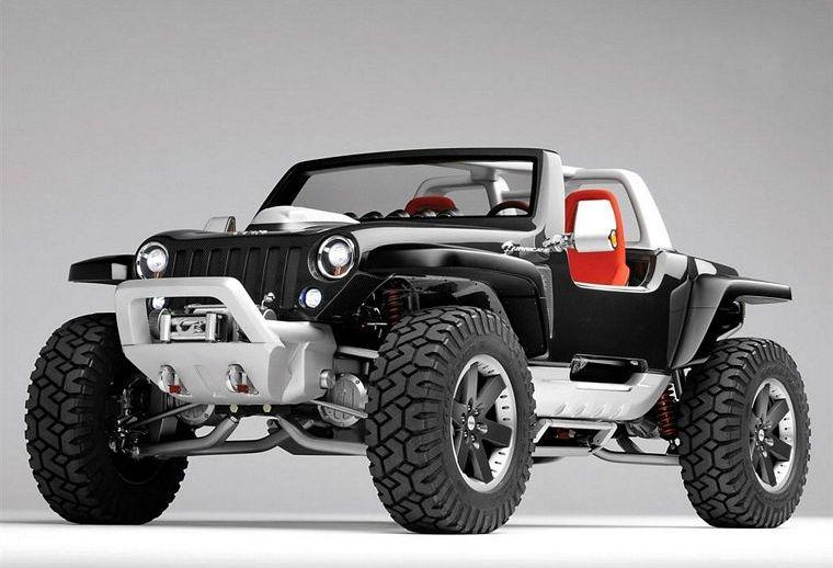 Front Left Black 2005 Jeep Hurricane Concept Car Picture