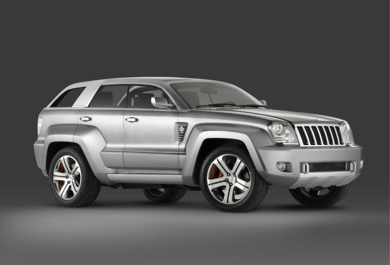 Front right 2006 Jeep Trailhawk Concept Truck Picture