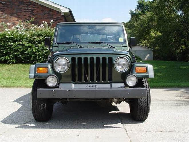Front View 1997 Jeep Wrangler Sport Truck Picture