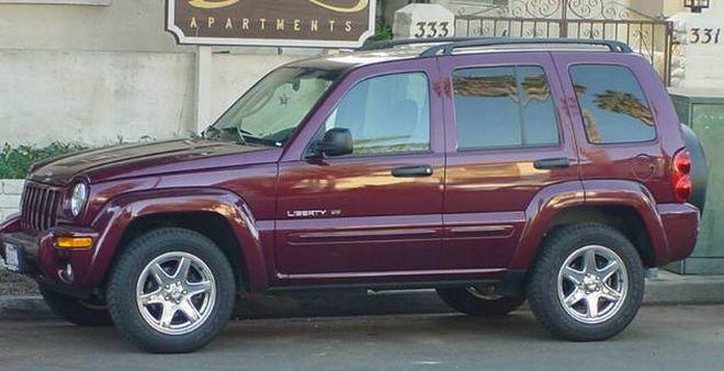 Left Side Maroon 2006 Jeep Liberty Truck Picture