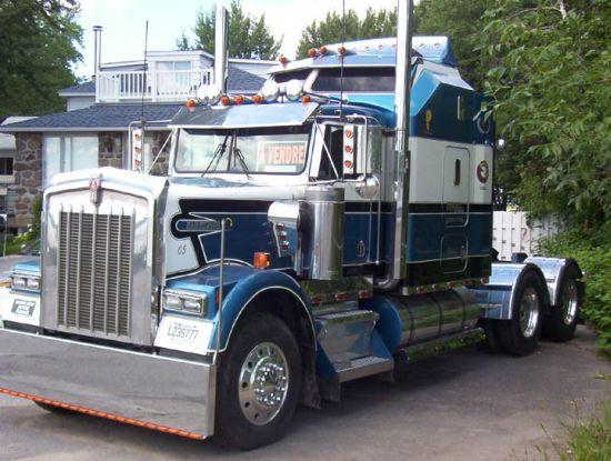 Front Left 1992 Kenworth W900B Truck Picture