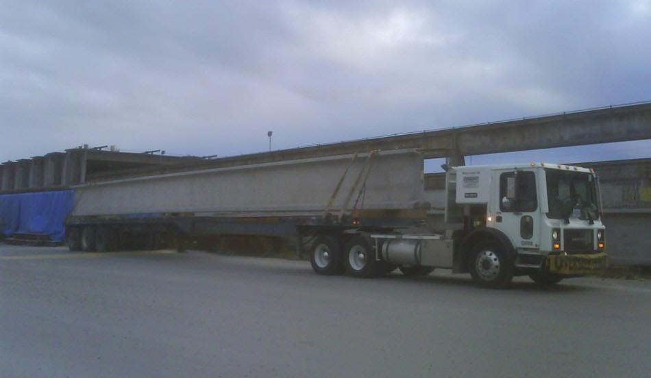 Generic Tractor Service Transporting Concrete Column