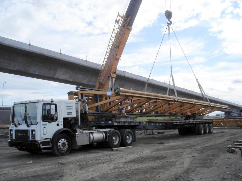 Generic Tractor Service Transporting Wood Trusses