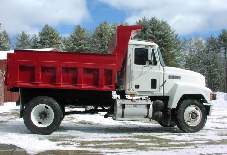 Right Side 1995 Mack CH612 Dump Truck Picture