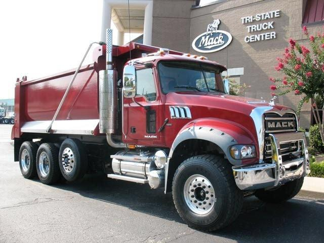 Front Right 2008 Mack GU713 Dump Truck Picture