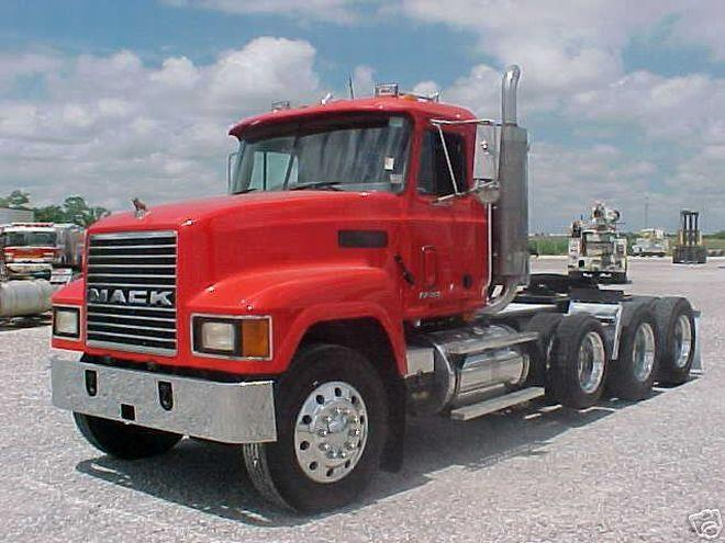 Front Left 1998 Red Mack Tri-Axle Picture | Mack Trucks
