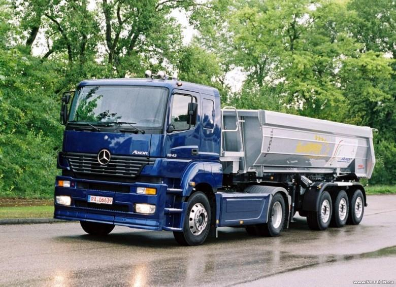 Front Left Blue 2009 Mercedes-Benz Axor Truck Picture
