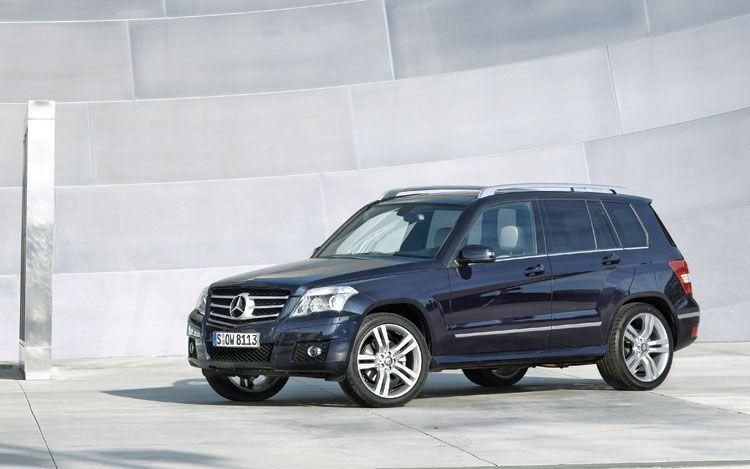 Front Left Blue 2010 Mercedes-Benz GLK CUV Picture