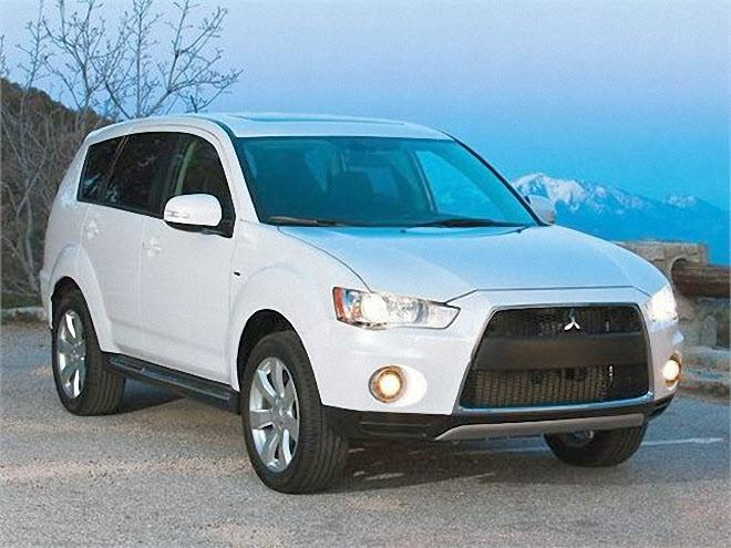 Front Right 2010 Mitsubishi Outlander SUV Picture