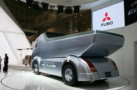 Left Rear Mitsubishi Fuso Canter Eco Concept Truck Picture
