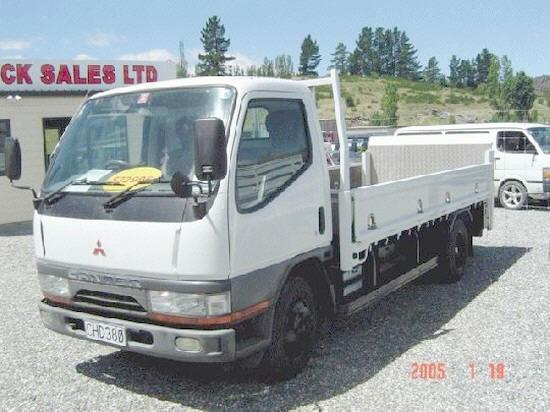 Front Left White 1997 Mitsubishi Canter Truck Picture
