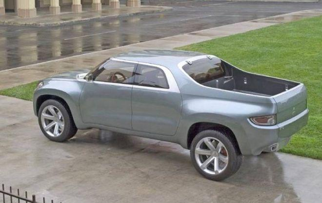 Rear Left Gray 2004 Mitsubishi Concept Truck Picture