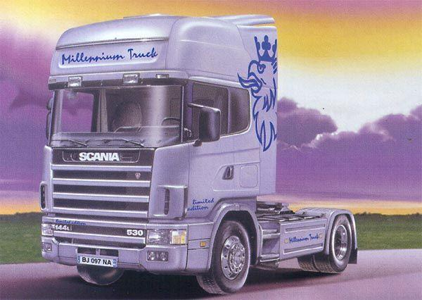 Front left purple Scania 114L Milennium Truck Picture