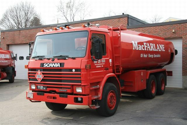 Front Left Red 1988 Scania 112H Fuel Truck Picture