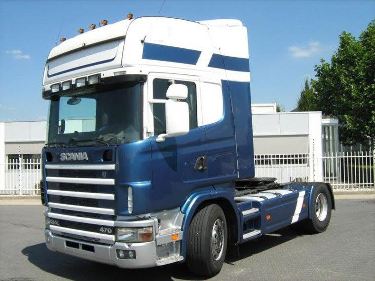 Front Left 2002 Scania R124L Truck Picture