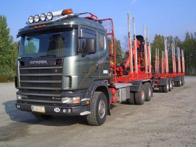 Front left gray 2003 Scania R154GB Truck Picture