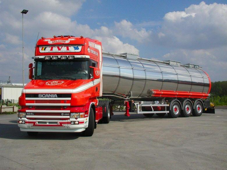Front Left 2004 Scania Topline Truck Picture
