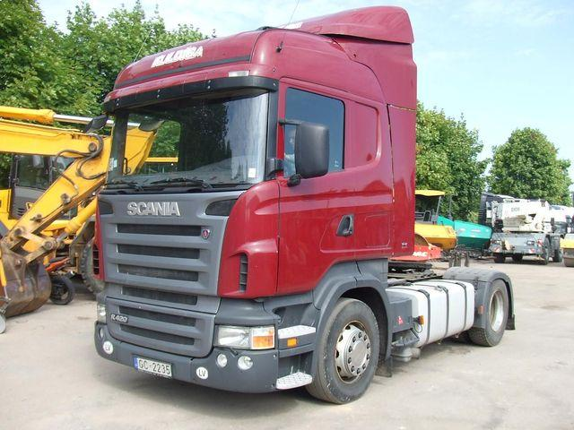 Front Left Red 2006 Scania R420 Truck Picture