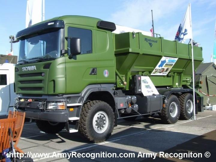 Front Left 2006 Scania Army Truck Picture