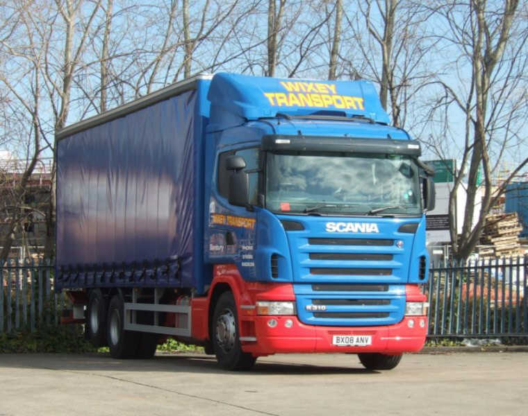 Front right blue Scania R310 Truck Picture