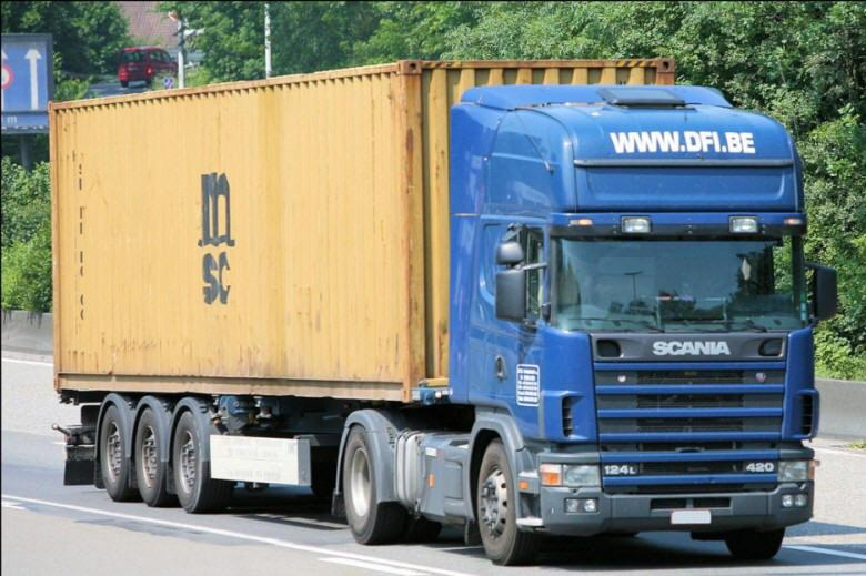 Front Right 2009 Scania 124L Transport Truck Picture